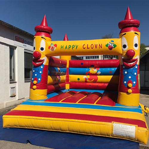 Huepfburg Happy Clown mieten muenchen